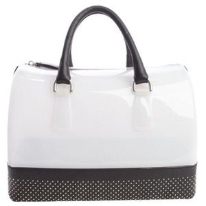 Furla Opaline Onyx Black Candy Bag NWOT